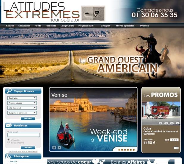Le site Internet de Latitudes Extrêmes - DR