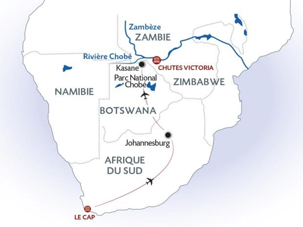 Un des itinéraires proposé par CroisiEurope à bord de L'African Dream - DR