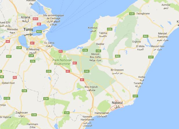 L'agression s'est produite à Nabeul - DR : Google Maps