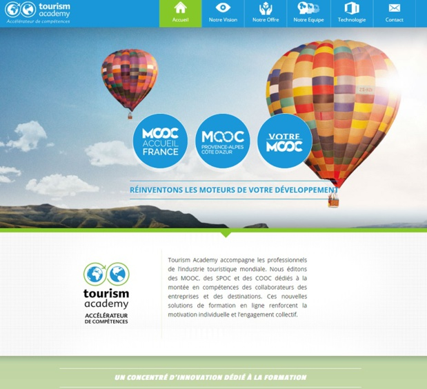 Le site Tourism Academy - DR