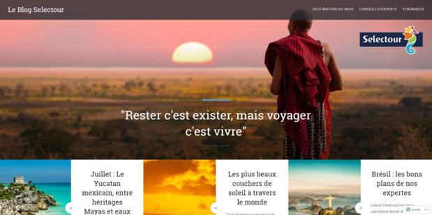Le blog de Selectour est en ligne depuis quelques semaines - Capture d'écran