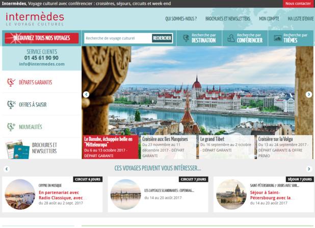 Capture d'écran de la nouvelle version du site Internet d'Intermèdes