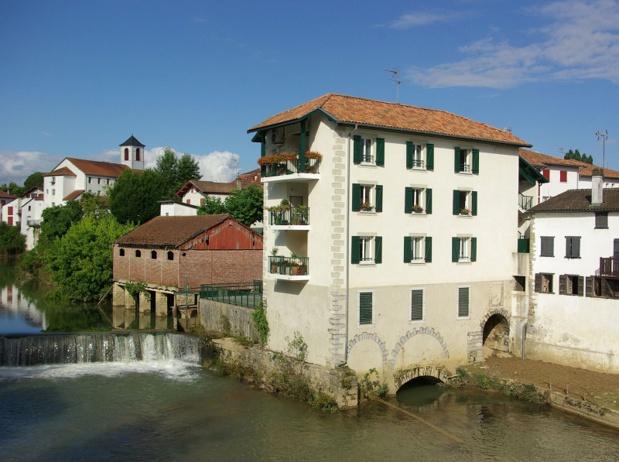 Saint-Palais et ses 1 900 habitants sont l'exemple type du bourg-centre irriguant un vaste territoire agricole - DR : J.-F.R.