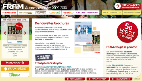 FRAM lance ''Voyages Lointains'', une brochure long-courriers