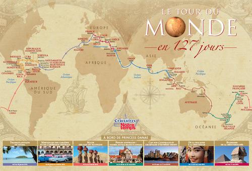 Croisières Notre Temps : nouvelle brochure ''Le tour du Monde en 127 jours''