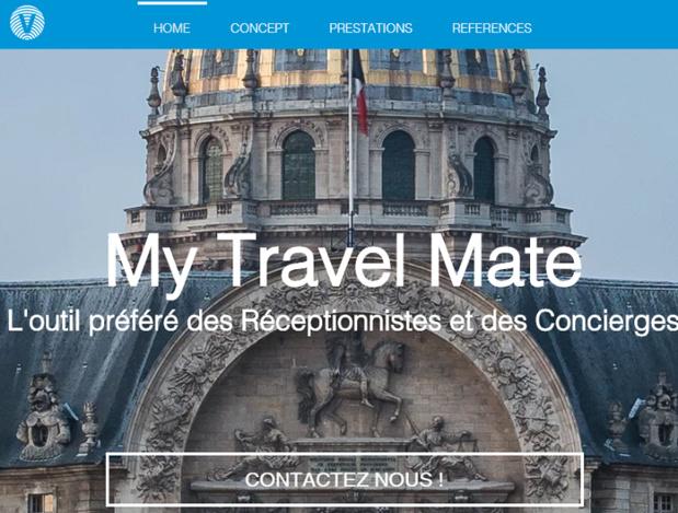 Capture d'écran du site Internet de My Travel Mate