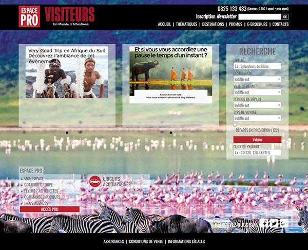 DR : Capture d'écran Visiteurspro.com