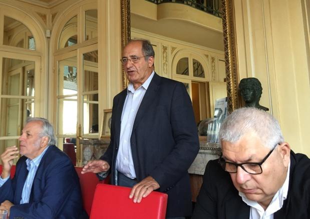 Richard Soubielle, Jean-Pierre Mas et Jean-Marc Rozé lors de la conférence de presse ce mardi 11 juillet 2017 - DR