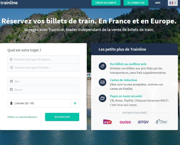 Le site Trainline - DR