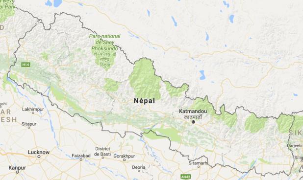 Plusieurs rivières peuvent provoquer des inondations au Népal - DR : Google Maps