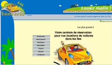 Location auto : site web spécialisé Iles