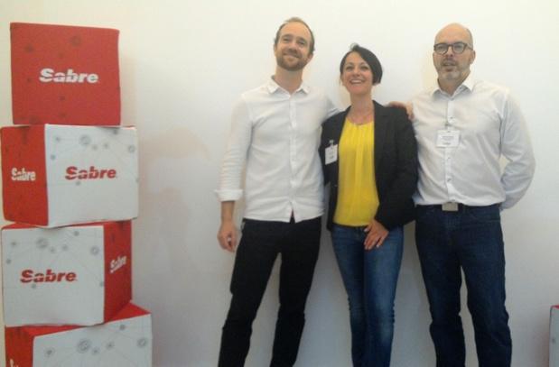 Dimitri Tsygalnitzky, Irene Losciale directrice du développement d'Eminds et Arnaud Daverdon, directeur des systèmes d'informations de Jetset Voyages (c) Johanna Gutkind