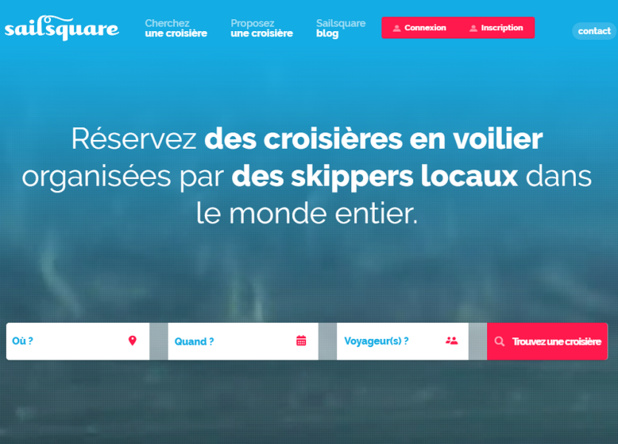 Capture d'écran de la plateforme Sailsquare
