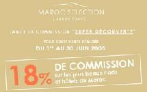 Maroc Sélection : 18% de commission jusqu'au 30 juin
