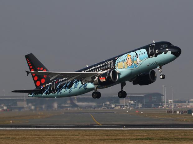 Un appareil de Brussels Airlines, décoré à l'effigie d'un célèbre héros belge de bande-dessinée © DR Brussels Airlines