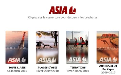 Cliquez sur la photo pour découvrir les brochures en ligne ASIA
