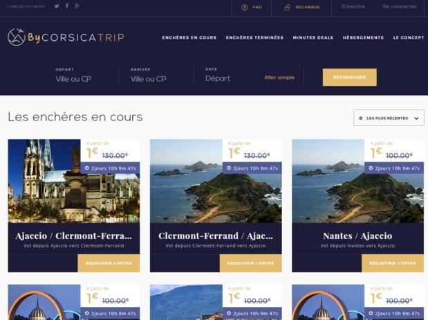 Air Corsica lance des ventes aux enchères sur Corsica Trip - DR