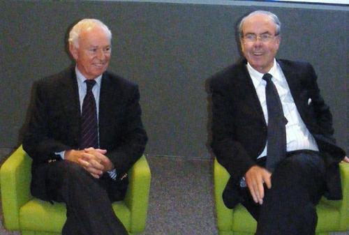 Dominique Charpentier, DG du CRT Riviera Côte d'azur et Alain Gumiel Pdt, commentent les chiffres de l'été 2009