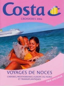Costa Croisières : brochure ''Voyage de noces''