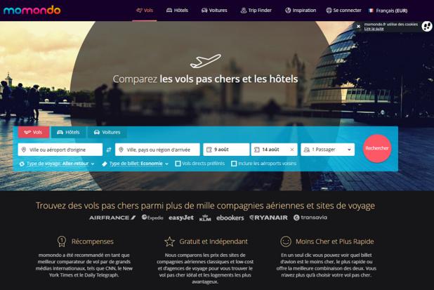 Le site web de Momondo - DR