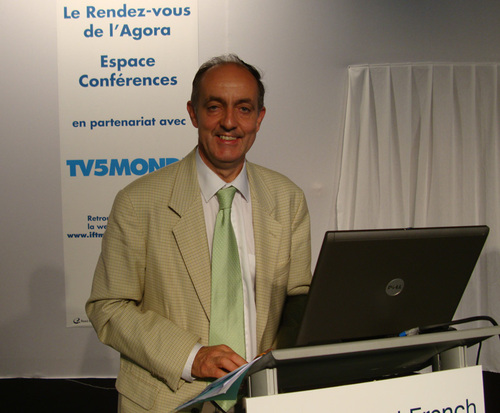 Guy Raffour lors de la présentation à l'IFTM Top Resa