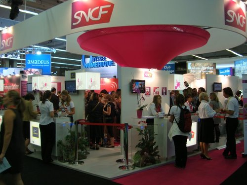 Le stand de la SNCF à l'IFTM Top Resa