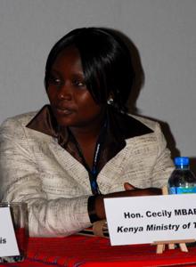 Cecily Mbarire - Ministre du Tourisme