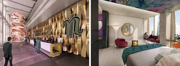 nhow : le futur hôtel situé à Francfort  « 4 étoiles plus » proposera 375 chambres - DR
