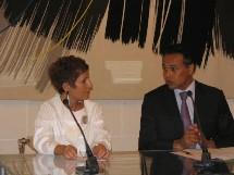 Le Ministre délégué au Tourisme Léon Bertrand qui était présent au coté d'Arlette Alphaize-Furet, a regretté
