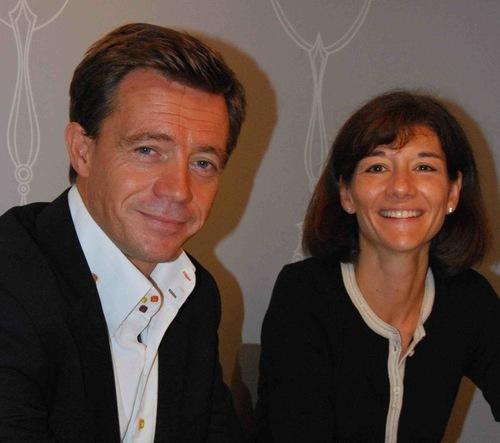 Frédéric Vanhoutte et Claire Gagnaire
