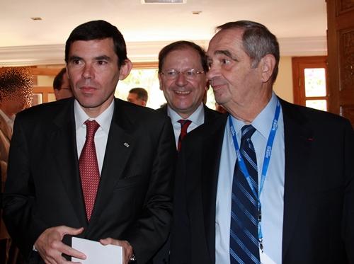 Khelil Lajimi, ministre du tourisme tunisien avec Hervé Novelli son homologue français et Georges Colson, président du Snav