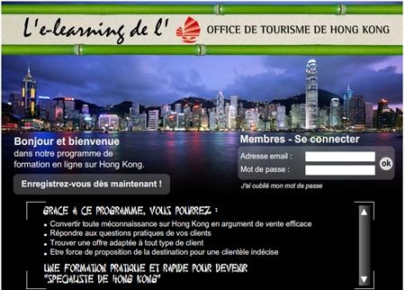 Cliquer pour accéder à l'elearning Hong Kong