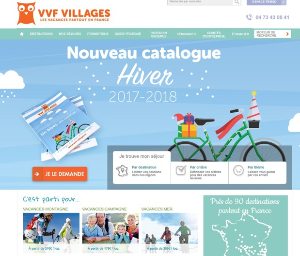 VVF Villages ouvre les ventes pour l'hiver 2017/2018