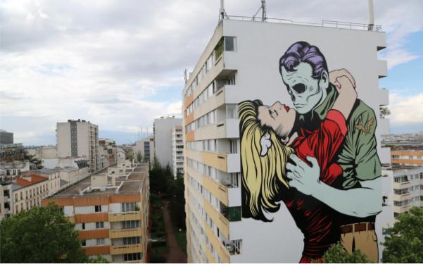 Un événement dédié à l'art urbain contemporain s'empare de la Cité de la mode et du design à Paris - DR : DFace Street Art 13 © Galerie Itinerrance