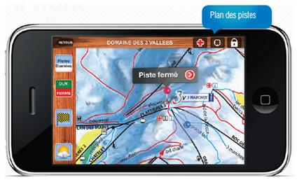 Les stations des 3 Vallées sur l'iPhone