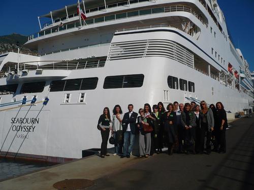 CIC, agent général pour la France et Monaco, a convié une quinzaine d'agents de voyages à venir découvrir Seabourn Odyssey, en escale à Monaco