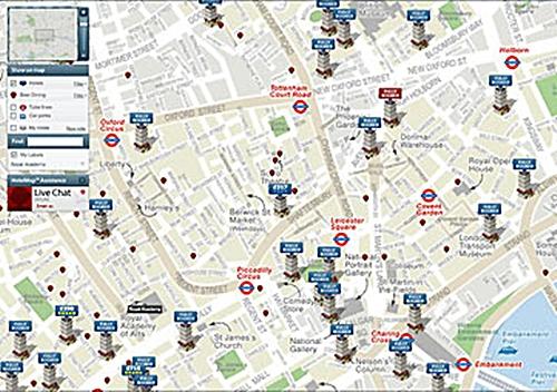 HotelMap.com propose en temps réel les disponibilités et les réductions proposés par les hébergements du périmètre choisi pour une date donnée
