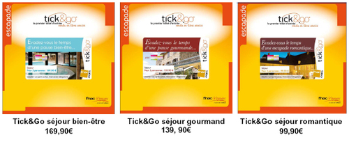 Fnac/Weekendesk lance 3 Tick and Go® Escapades