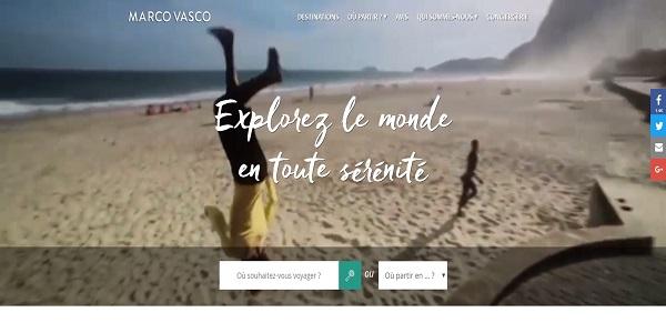 Copie écran de la page d'accueil du site : marcovasco.fr