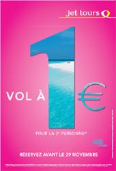 Jet tours : opération ''Vol à 1 € pour la deuxième personne''