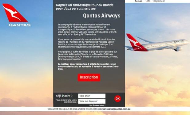 Qantas lance un challenge de ventes jusqu'au 23 décembre 2017 - DR