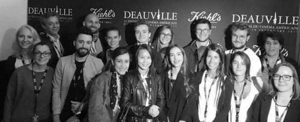 Les 16 premiers étudiants de LéCOLE sont allés à Deauville pour les festival du film américain - Photo : LéCOLE
