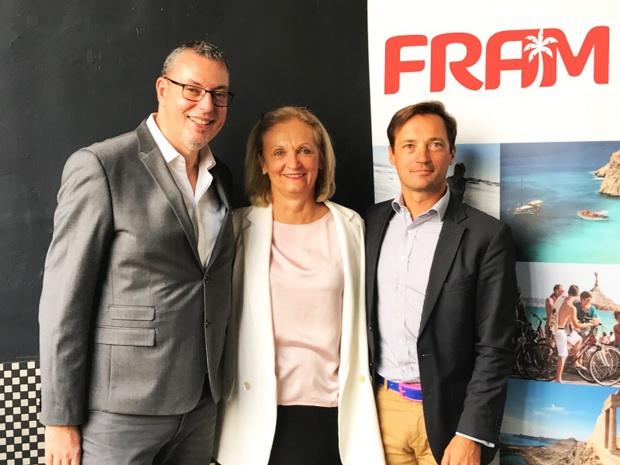 Michel Quenot, France Line Michon et Frédéric Granel à la conférence de presse FRAM de rentrée - DR FRAM