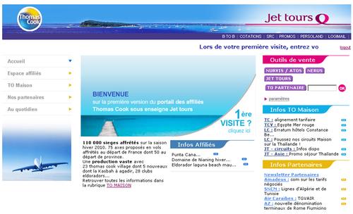 Thomas Cook lance un portail dédié aux affiliés Jet Tours