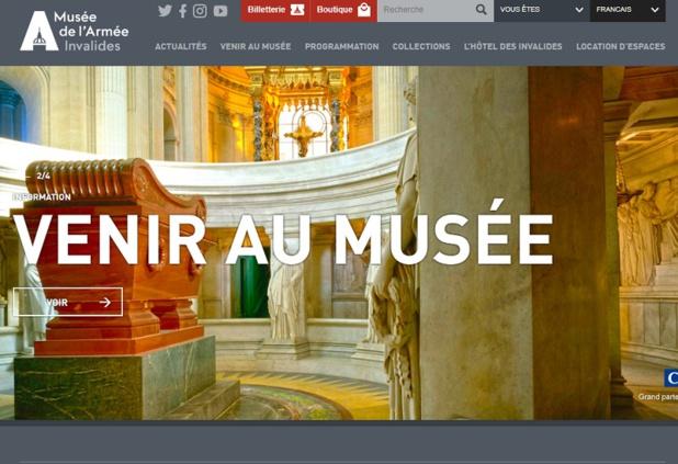 Le site Internet du musée de l'Armée - DR