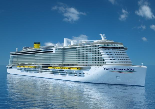 Le Costa Smeralda devrait être mis en service au mois d'octobre 2019 - Photo Costa DR
