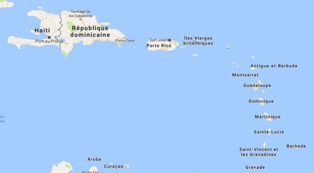 Les risques sanitaires sont élevés dans les Caraïbes depuis le passage de l'ouragan Irma - DR : Google Maps