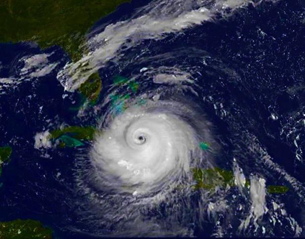 l'oeil du cyclone Irma au dessus de Cuva - DR Karl-Ludwig Poggemann