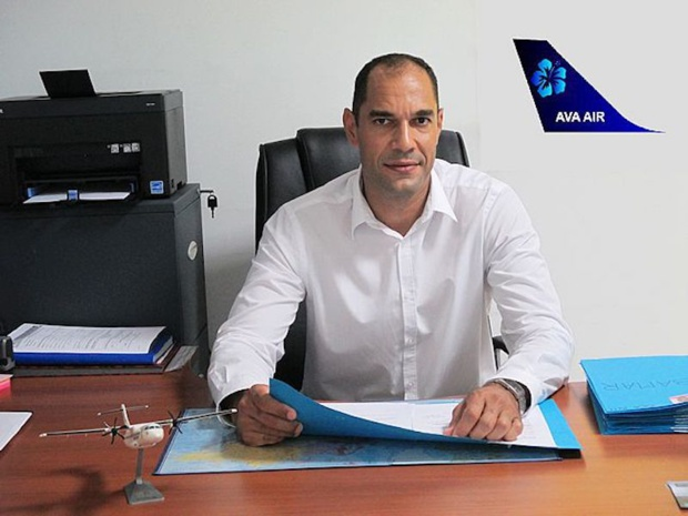 David Renard, a donné le nom de sa fille, Ava, a sa compagnie. © Twitter Caribean Aviation