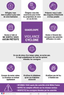 Le 19 septembre 2017 matin, la Guadeloupe est placée en vigilance violet - image : ministère de l'intérieur